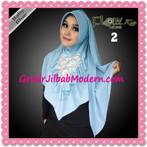 Jilbab Instant Cantik Syria Kia Original Flow Idea No 2 Baby Blue
