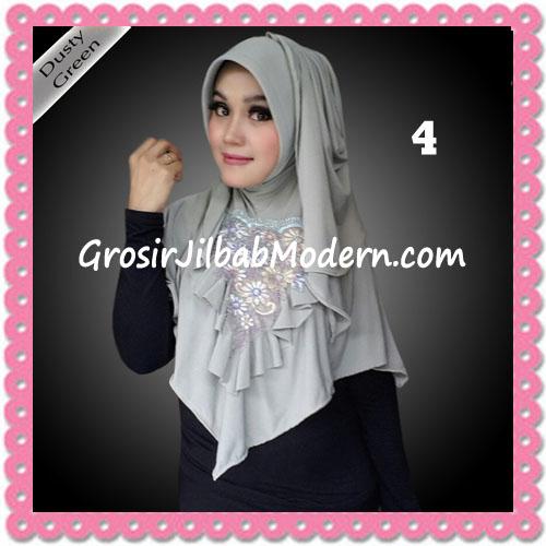 Jilbab Instant Cantik Syria Kia Original Flow Idea No 4 Dusty Green