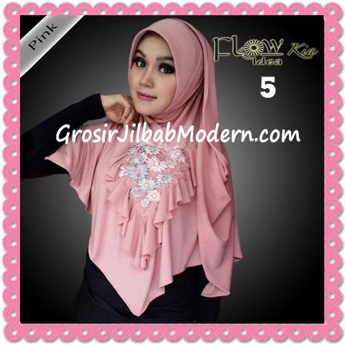 Jilbab Instant Cantik Syria Kia Original Flow Idea No 5 Pink
