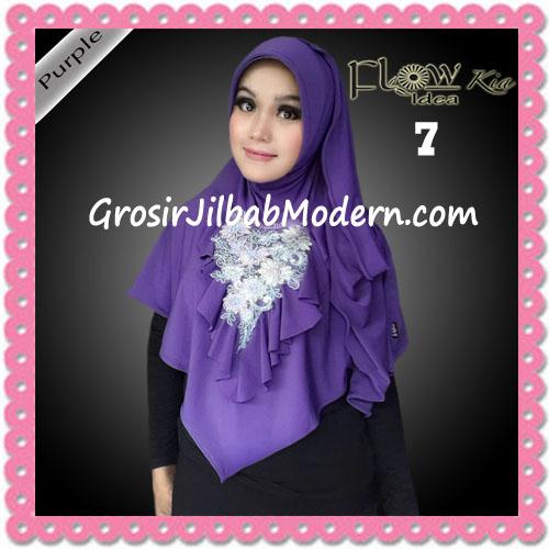 Jilbab Instant Cantik Syria Kia Original Flow Idea No 7 Purple