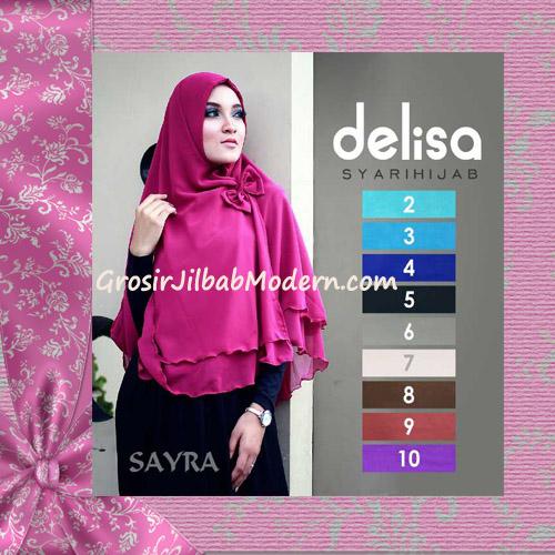 Jilbab Instant Cerutti Tanpa Pet Delisa Syar'i Hijab By Sayra Series