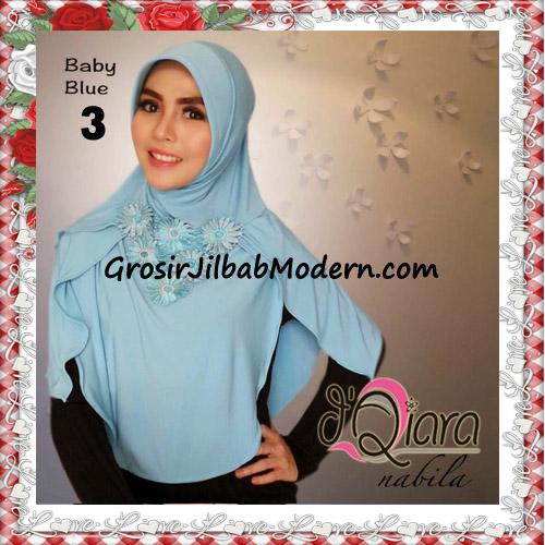 Jilbab Instant Modern Nabila Ala Artis Dian Sastro Original d'Qiara Brand No 3 Baby Blue