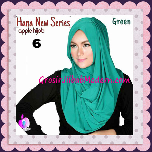 Jilbab Instant Simple Cantik Hana New Series Original By Apple Hijab Brand No 6 Green