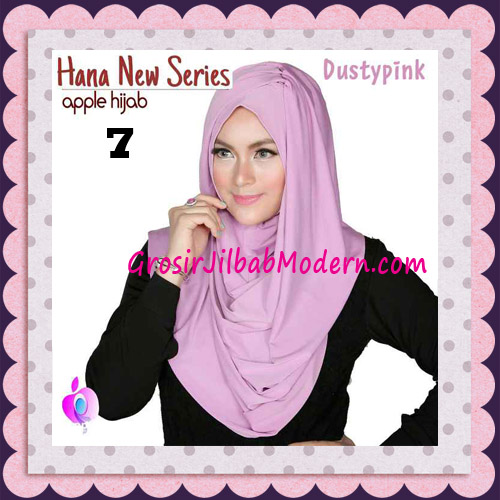 Jilbab Instant Simple Cantik Hana New Series Original By Apple Hijab Brand No 7 Dusty Pink