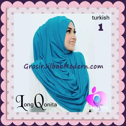 Jilbab Instant Syria Long Qonita Hoodie Cantik Original Apple Hijab Brand No 1 Turkish