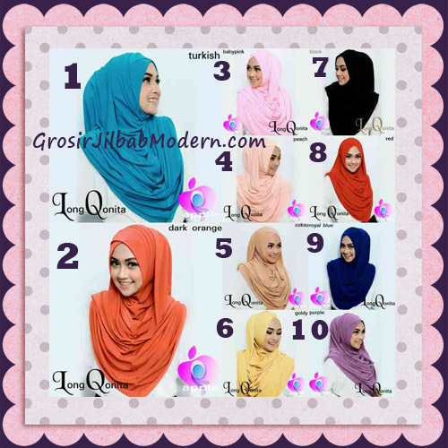 Jilbab Instant Syria Long Qonita Hoodie Cantik Original Apple Hijab Brand Series