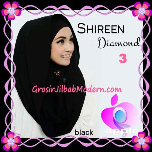 Jilbab Instant Terbaru Hoodie Shireen Diamond Seri 2 Original by Apple Hijab Brand No 3 Black