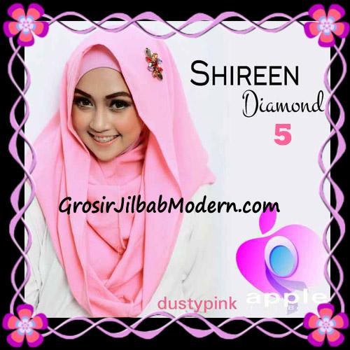 Jilbab Instant Terbaru Hoodie Shireen Diamond Seri 2 Original by Apple Hijab Brand No 5 Dusty Pink