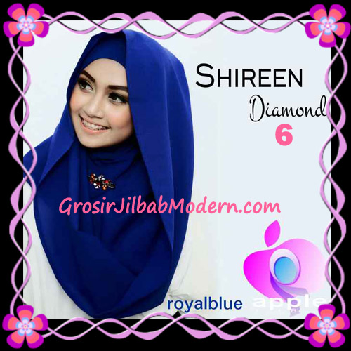 Jilbab Instant Terbaru Hoodie Shireen Diamond Seri 2 Original by Apple Hijab Brand No 6 Royalblue