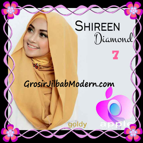 Jilbab Instant Terbaru Hoodie Shireen Diamond Seri 2 Original by Apple Hijab Brand No 7 Goldy