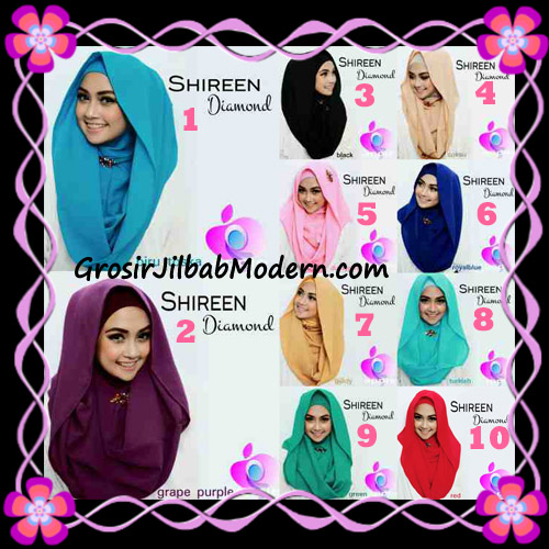 Jilbab Instant Terbaru Hoodie Shireen Diamond Seri 2 Original by Apple Hijab Brand Series