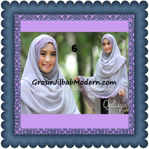Jilbab Khimar Instant Jumbo Cerutti Faizia Ala Artis Lyra Virna Original by Qalisya No 6 Silver