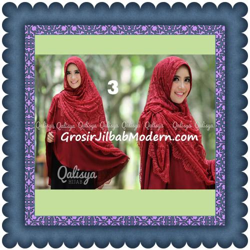Jilbab Khimar Syar'i Elegan Halwa Brukat Seri 2 Trendy By Qasilya Brand No 3 Maron
