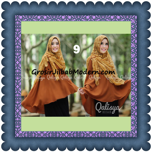 Jilbab Khimar Syar'i Elegan Halwa Brukat Seri 2 Trendy By Qasilya Brand No 9 Caramel