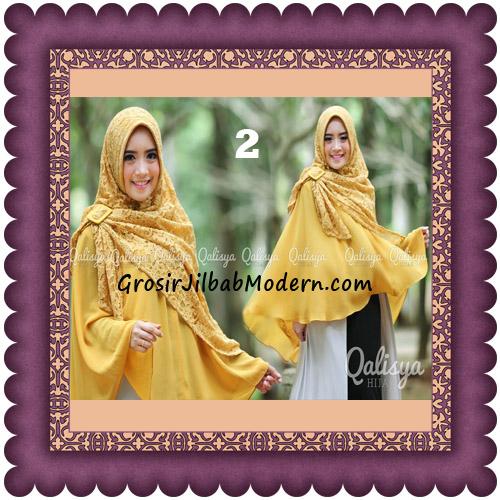 Jilbab Khimar Syar'i Halwa Brukat Modis Trendy By Qasilya Brand No 2 Gold