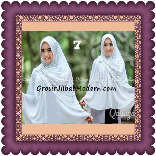 Jilbab Khimar Syar'i Halwa Brukat Modis Trendy By Qasilya Brand No 7 Broken White