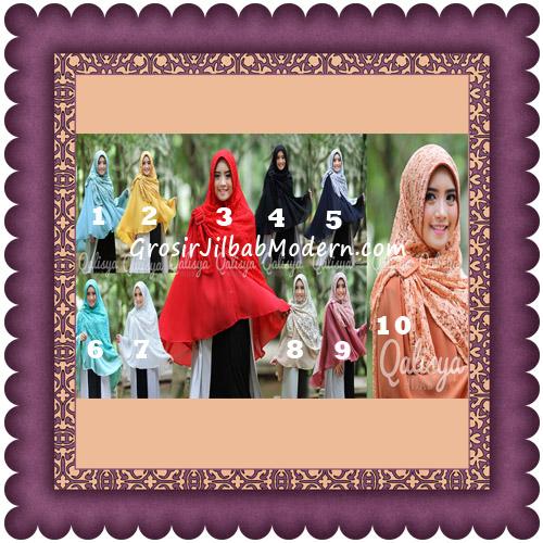 Jilbab Khimar Syar'i Halwa Brukat Modis Trendy By Qasilya Brand Series