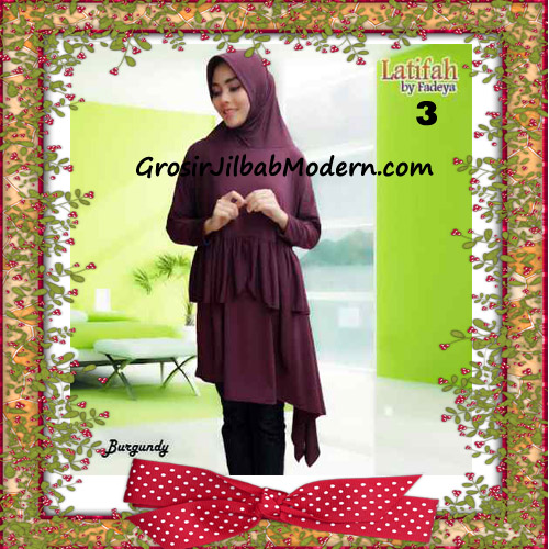 Jilbab Syar'i Lengan Modis Latifah Original By Fadeya Brand No 3 - Burgundy