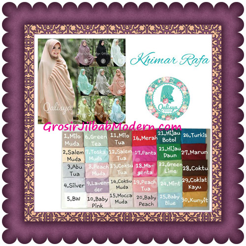 Hijab Cerutti Khimar Rafa Original by Qalisya Series