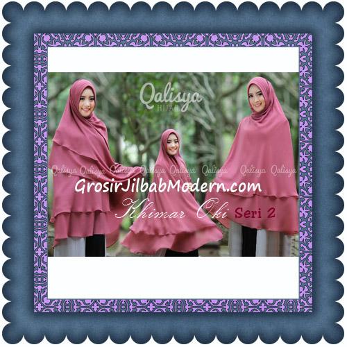 Hijab Khimar Cerutti Jumbo Ala Oki Setiana Seri 2 Original by Qalisya
