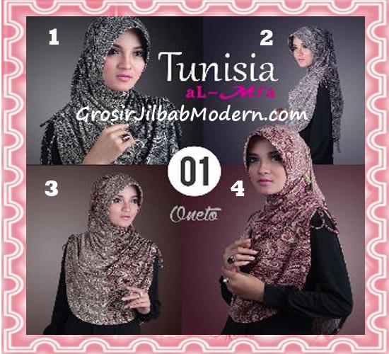 Jilbab Bergo Instant Kerut Tunisia Seri 01 Original By AlMia Series