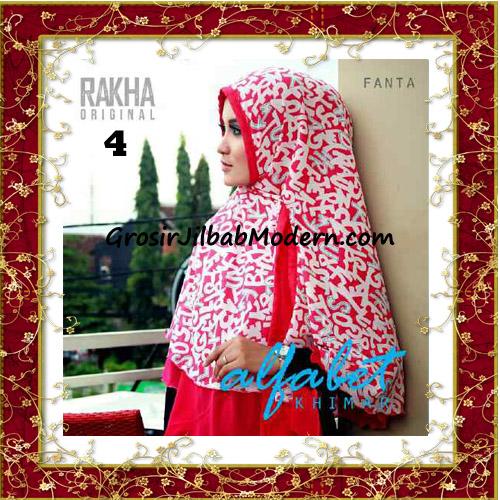 Jilbab Cerutti Jumbo Trendy Khimar Alfabet Original by Rakha Brand No 4 Fanta