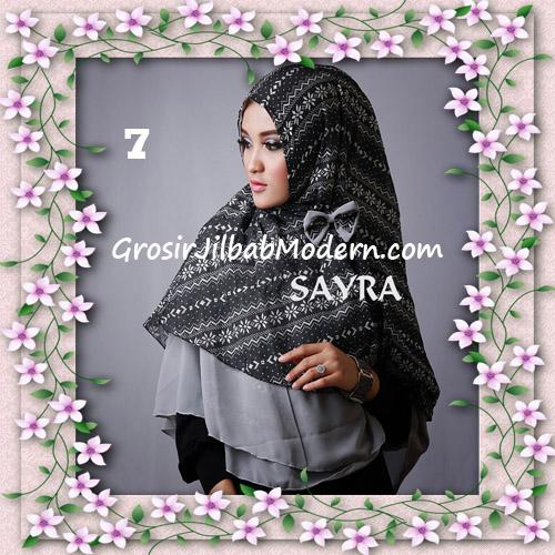 Jilbab Cerutti Nyentrik Khimar Etnik Original by Sayra No 7