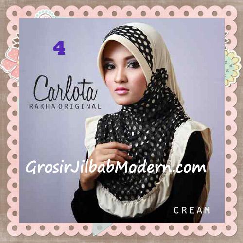 Jilbab Harian Cantik Modis Carlota Original By Rakha Brand No 4 Cream