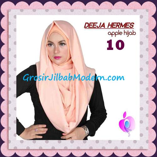 Jilbab Hoodie Instant Trendy Deeja Hermes Original By Apple Hijab Brand No 10 Creamy Peach