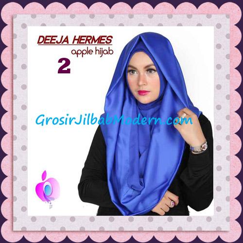 Jilbab Hoodie Instant Trendy Deeja Hermes Original By Apple Hijab Brand No 2 Royal Blue