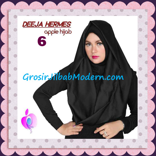 Jilbab Hoodie Instant Trendy Deeja Hermes Original By Apple Hijab Brand No 6 Black