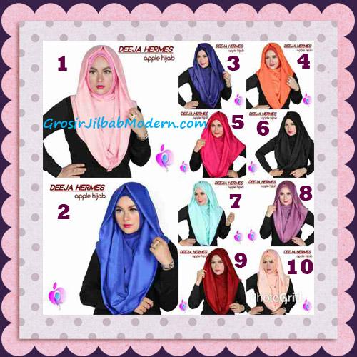 Jilbab Hoodie Instant Trendy Deeja Hermes Original By Apple Hijab Brand Series
