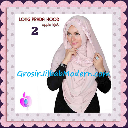 Jilbab Instant Long Prada Hoodie Modis Original By Apple Hijab Brand No 2 Creamy Peach