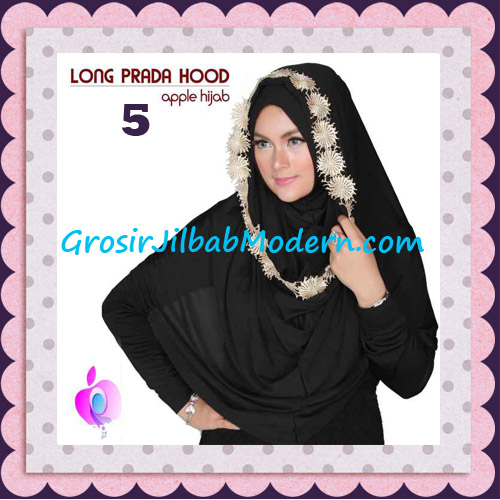 Jilbab Instant Long Prada Hoodie Modis Original By Apple Hijab Brand No 5 Black