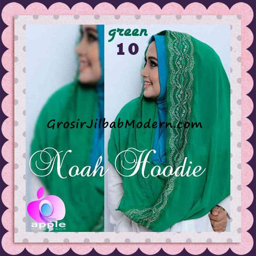 Jilbab Instant Modern Modis Noah Hoodie Original By Apple Hijab Brand No 10 Green