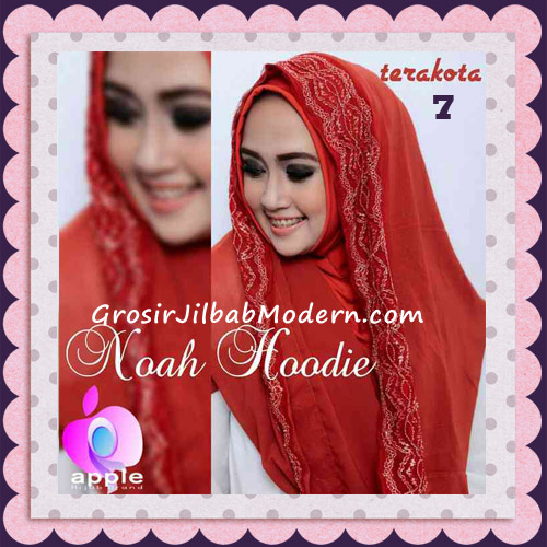 Jilbab Instant Modern Modis Noah Hoodie Original By Apple Hijab Brand No 7 Terakota