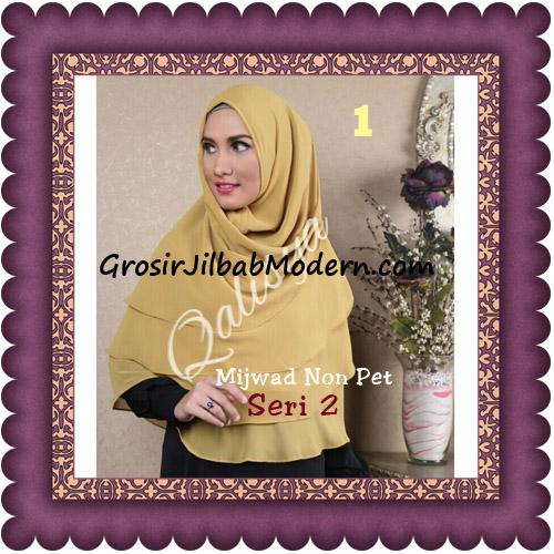 Jilbab Khimar Cerutti Mijwad Tanpa Pet Seri 2 Original By Qalisya No 1 Kuning