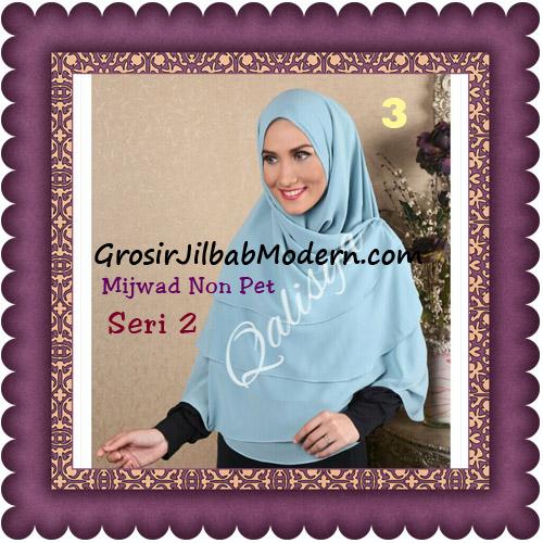 Jilbab Khimar Cerutti Mijwad Tanpa Pet Seri 2 Original By Qalisya No 3 Blue Jeans Muda