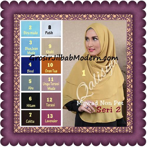 Jilbab Khimar Cerutti Mijwad Tanpa Pet Seri 2 Original By Qalisya Series