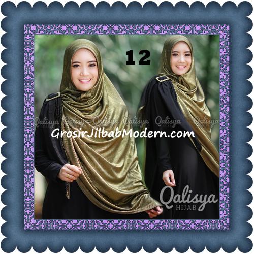 Jilbab Khimar Syar'i Elegan dan Modis Qudsiy Original by Qalisya No 12 Hitam