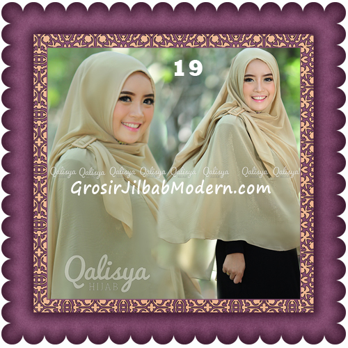 Jilbab Khimar Syar'i Trendy Halwa Non Pet XL Original by Qalisya No 19