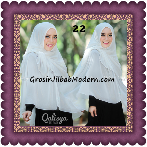 Jilbab Khimar Syar'i Trendy Halwa Non Pet XL Original by Qalisya No 22