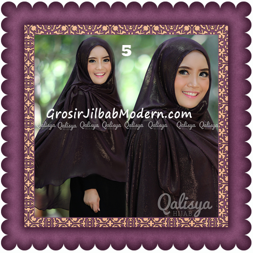 Jilbab Khimar Syar'i Trendy Halwa Non Pet XL Original by Qalisya No 5