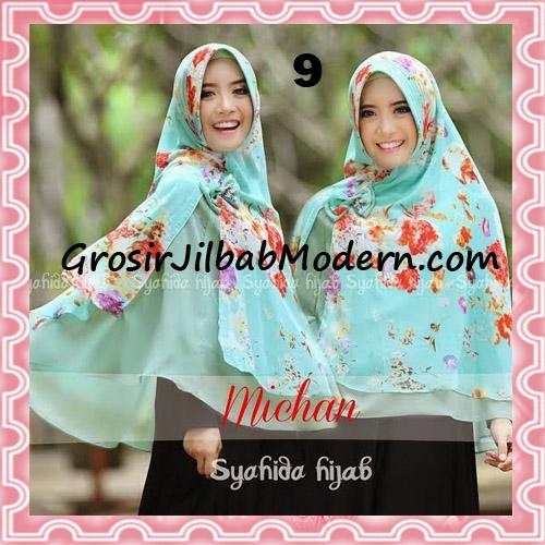 Jilbab Kombinasi Flower dan Polos Khimar Michan Pet Original by Syahida No 9