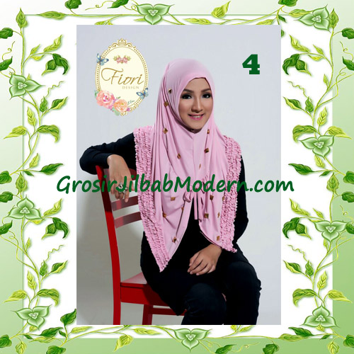 Jilbab Langsung Pakai Modis Syria Daily Studded Original Fiori Design No 4 Baby Pink