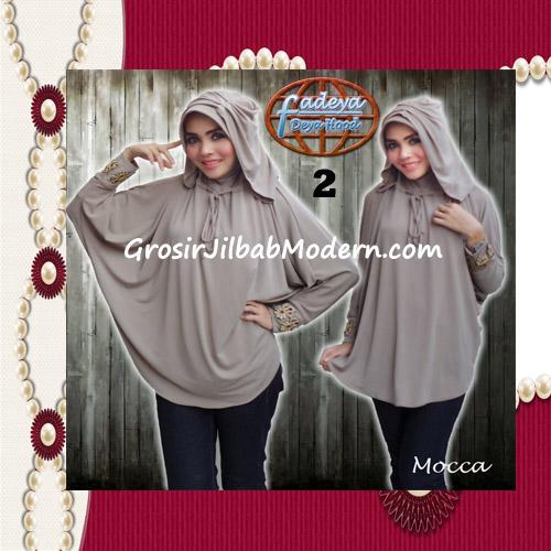 Jilbab Lengan Exclusive Deya Hood Cantik Original by Fadeya No 2 Mocca