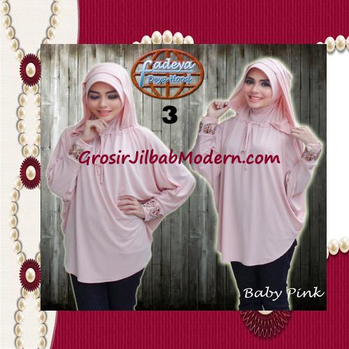 Jilbab Lengan Exclusive Deya Hood Cantik Original by Fadeya No 3 Baby Pink