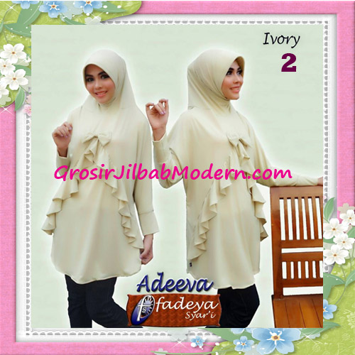 Jilbab Lengan Polos Bergo Adeva Original By Fadeya No 2 Ivory