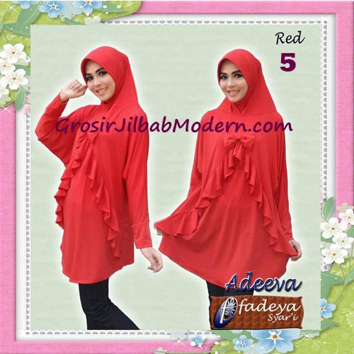 Jilbab Lengan Polos Bergo Adeva Original By Fadeya No 5 Red