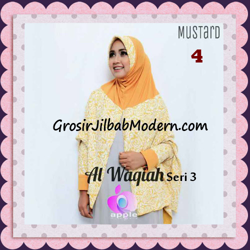 Jilbab Tangan Syar'i Al Waqiah Seri 3 Original by Apple Hijab Brand No 4 Mustard